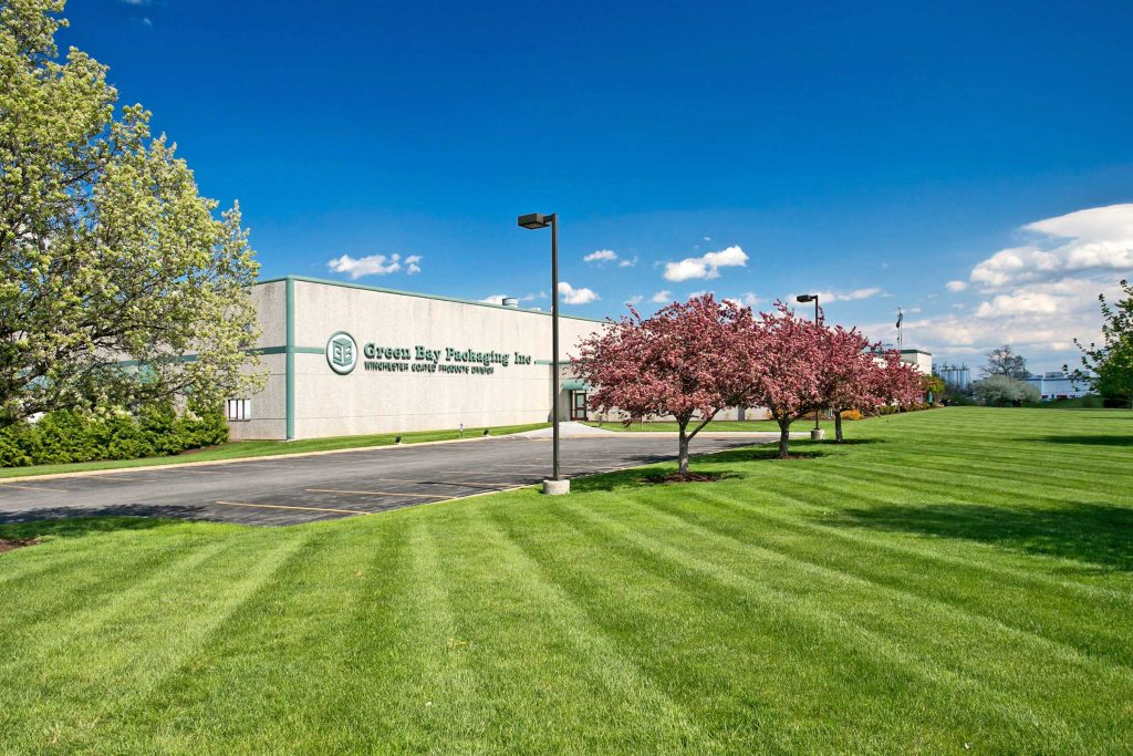 Commercial Landscape Management at Green Bay Packaging in Winchester, VA
