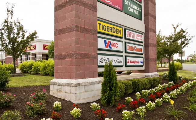 Gateway Shopping Center Commercial Landscaping in Winchester, VA