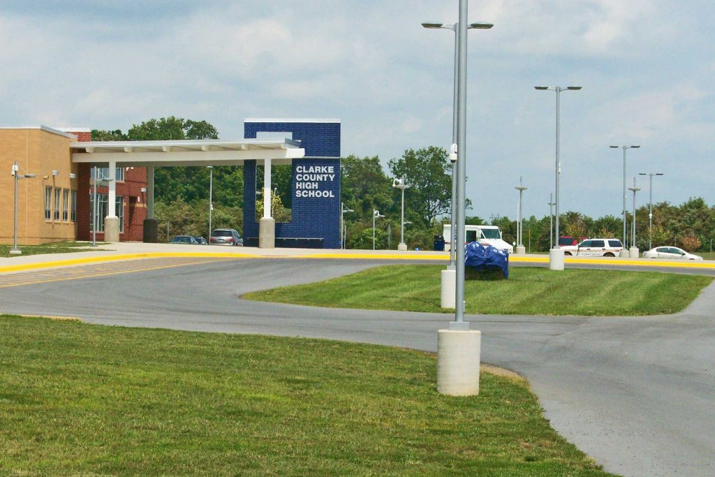 Government Facility Grounds Maintenance Facade at Clarke County Public Schools in Berryville, VA