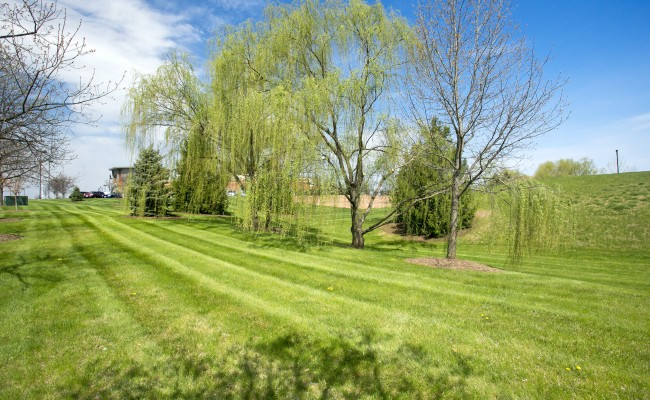 Commercial Lawn Mowing Service at Valley Health Systems in Winchester, VA