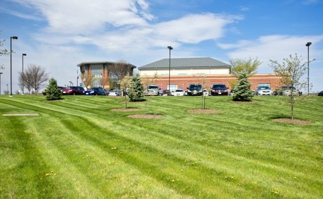 Commercial Lawn Treatment at Valley Health Systems in Winchester, VA
